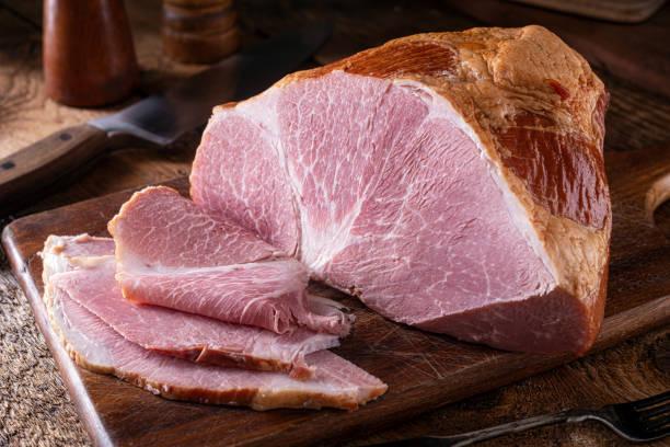 Naturally Smoked Ham stock photo