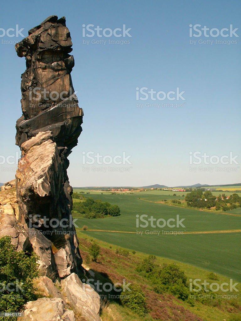 Nördlichen Naturdenkmal Teufelsmauer bei Weddersleben im Harz zbiór zdjęć royalty-free