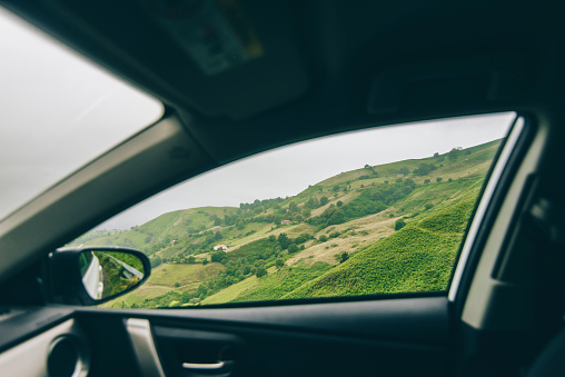 Nature as seen from inside a car