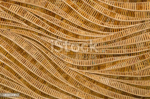 istock nature background of brown handicraft weave texture bamboo surface 185834912