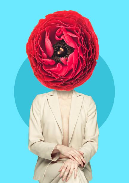 natur schönheit. modernes design. zeitgenössische kunstcollage. - popmusiker stock-fotos und bilder