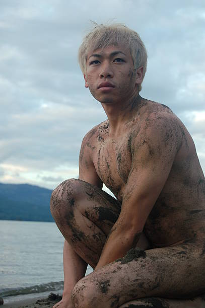 nature boy - young nudist boys stock photos and pictures