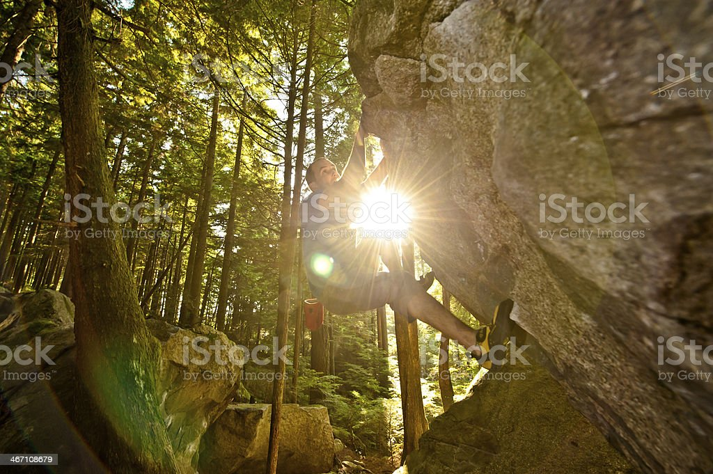 Nature climb stock photo