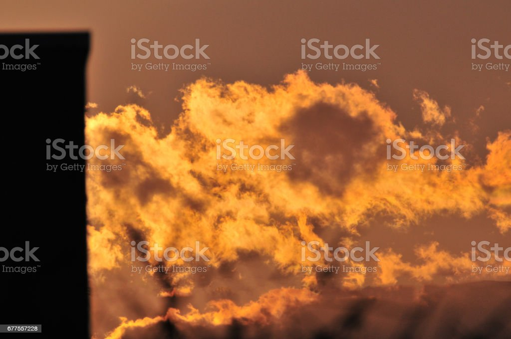Nature Cloud Sky landscape Mountain close-up Japan sunset sun Steel tower tower  Electric wire royalty-free stock photo