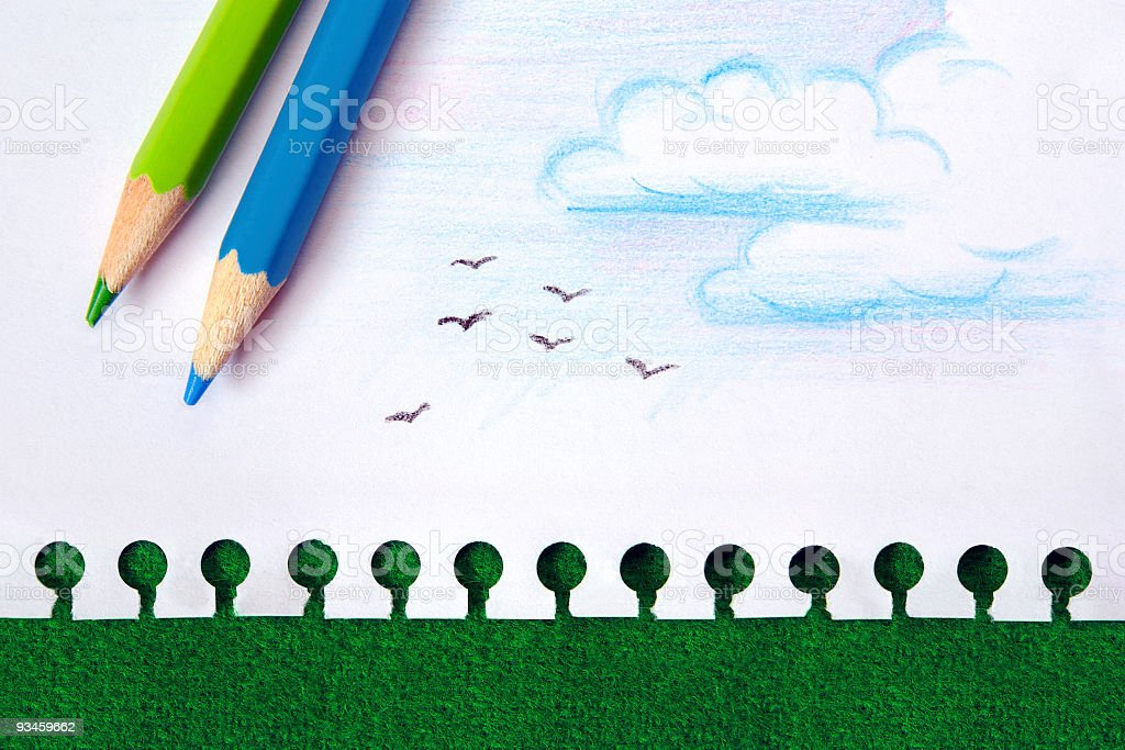 Nature Drawing stock photo
