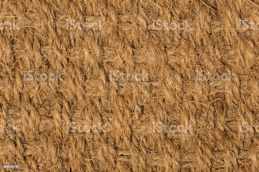nature fiber texture from coconut brown color high macro detail mat stock photo