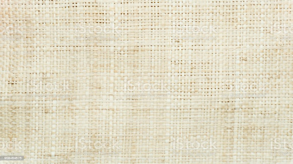 Nature fiber woven for cloth close up texture background stock photo