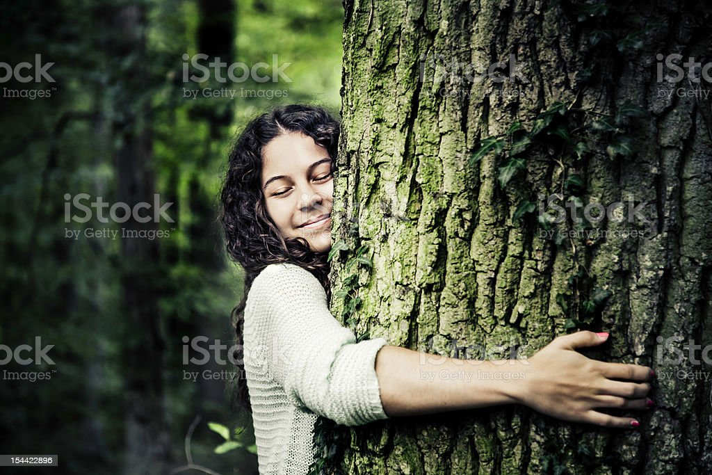 Nature Girl stock photo