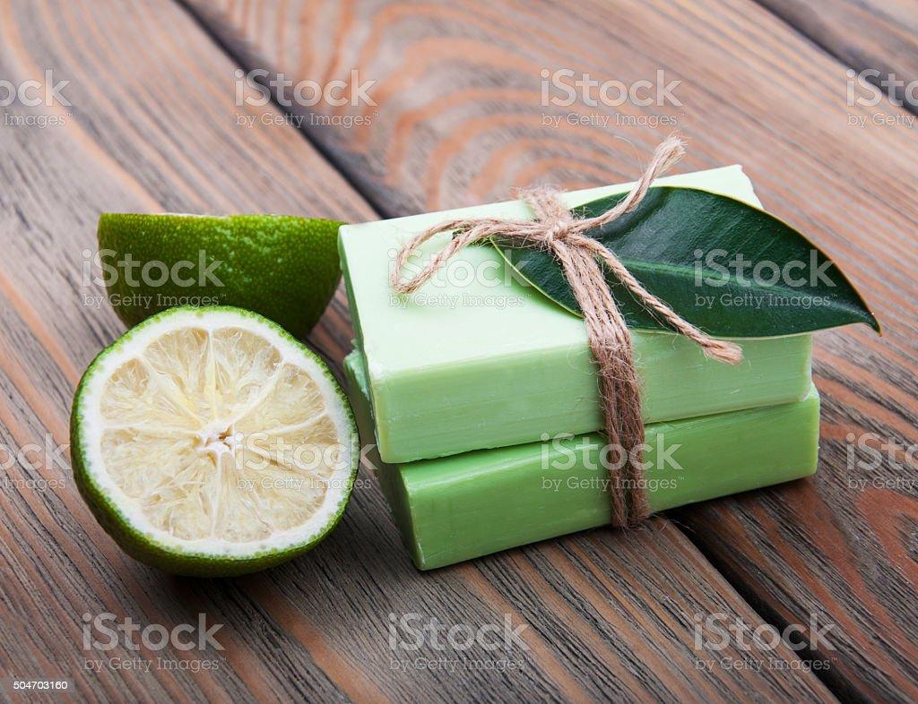 Nature Handmade soap stock photo