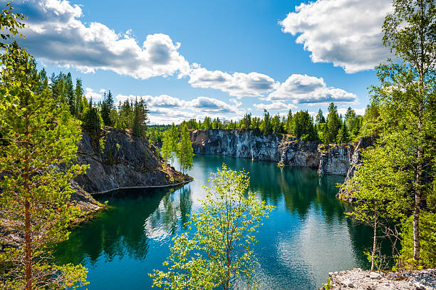 Nature in summer, Karelia, Russia Nature in summer, Karelia, Russia republic of karelia russia stock pictures, royalty-free photos & images