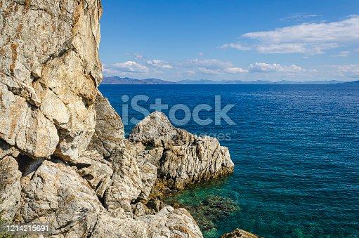 Sea shore and cliffs