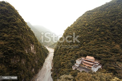 istock Nature landscape image of a buddhist temple in mountain valley 1060274698