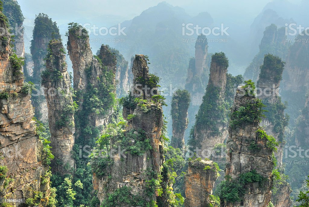 Nature landscape in China stock photo