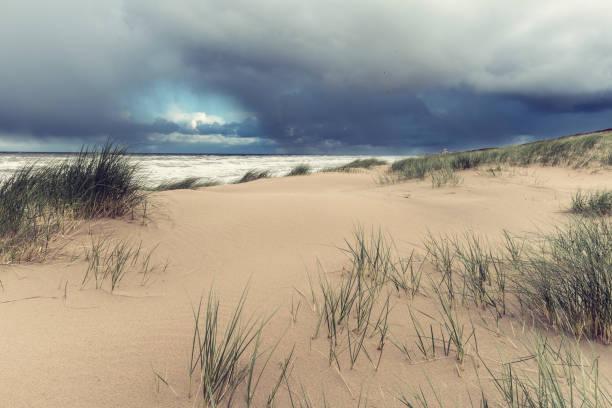 Naturlandschaft, Meer und Sand dune – Foto