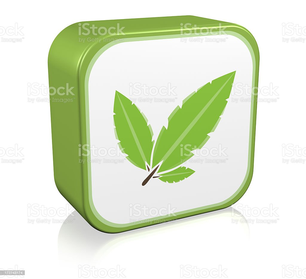 Nature Leaf Icon royalty-free stock photo