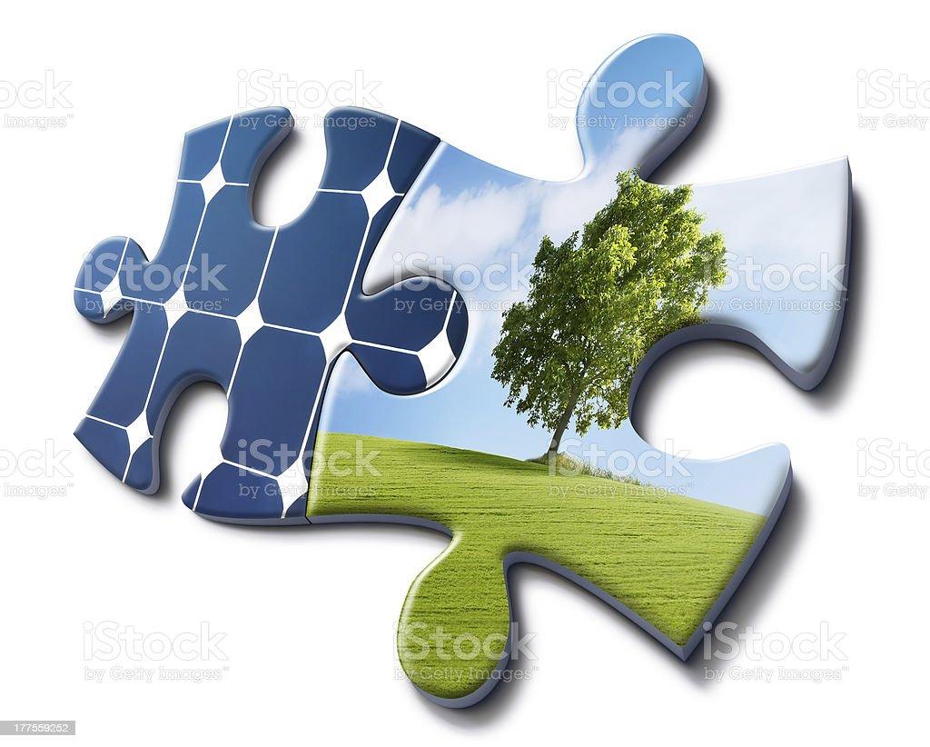nature loves solar energy stock photo