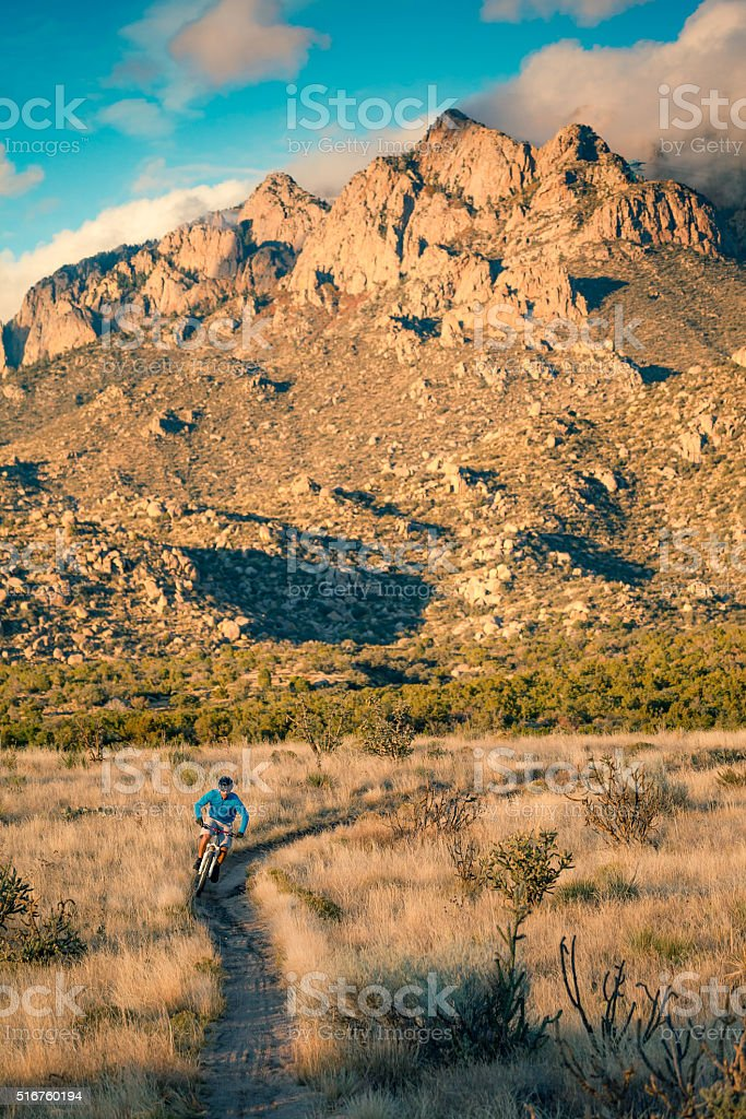 nature man landscape fitness inspiration stock photo