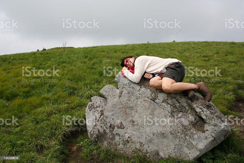 Nature nap stock photo