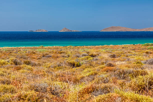 Nature of Aegean islands - Lemnos - Greece stock photo