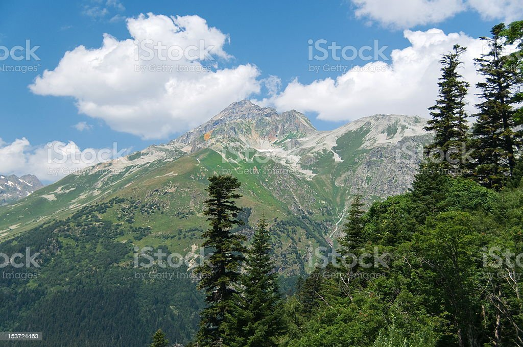 Nature of mountains royalty-free stock photo