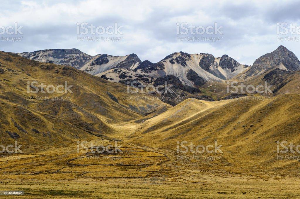 Nature of Puno, Peru stock photo