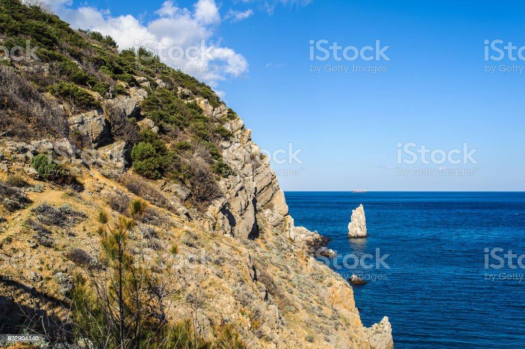 Nature of the Black Sea, Gaspra stock photo