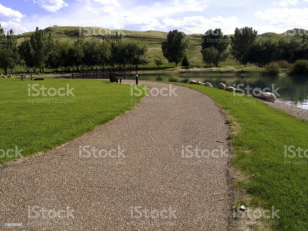 Nature > Park Pathway stock photo
