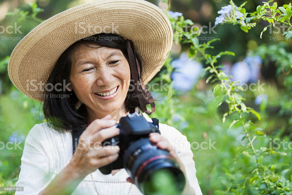 Nature photographer stock photo