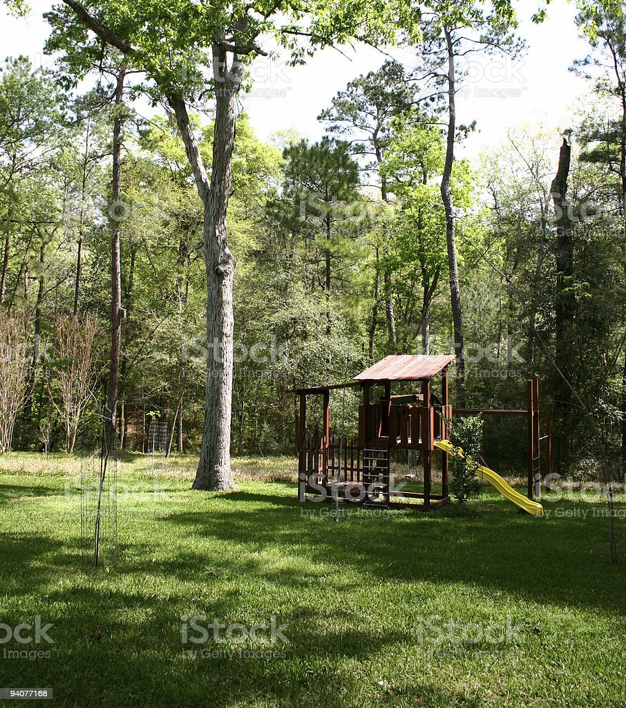 Nature: Playhouse in backyard. royalty-free stock photo
