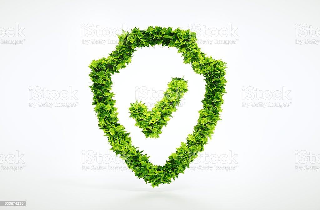 Nature protection symbol stock photo