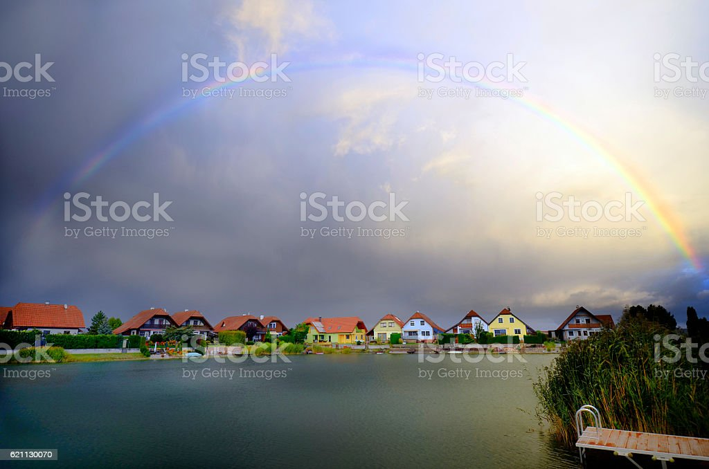 Nature, Rainbow stock photo