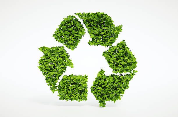 nature recycling symbol - recycling symbol stock photos and pictures