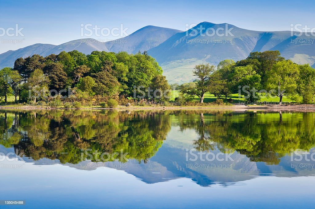 Nature reflected, English Lake District stock photo