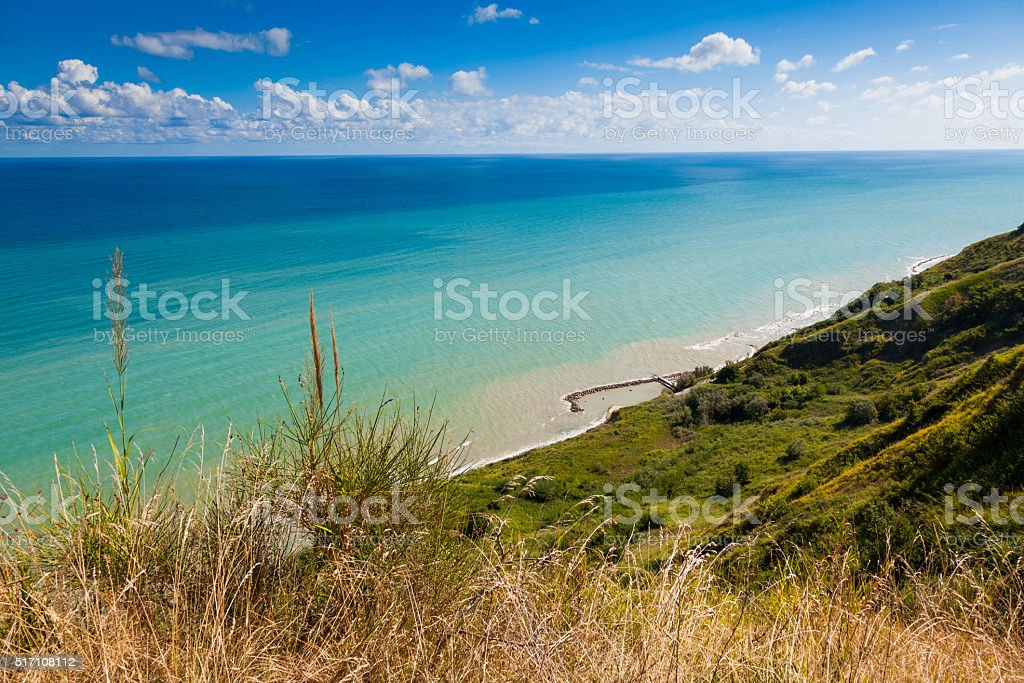 Nature scenic over the bay of Rimini stock photo