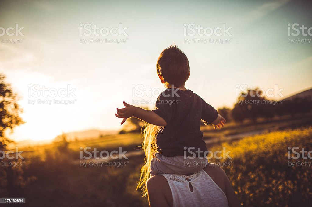 Nature time with my mommy royalty-free stock photo
