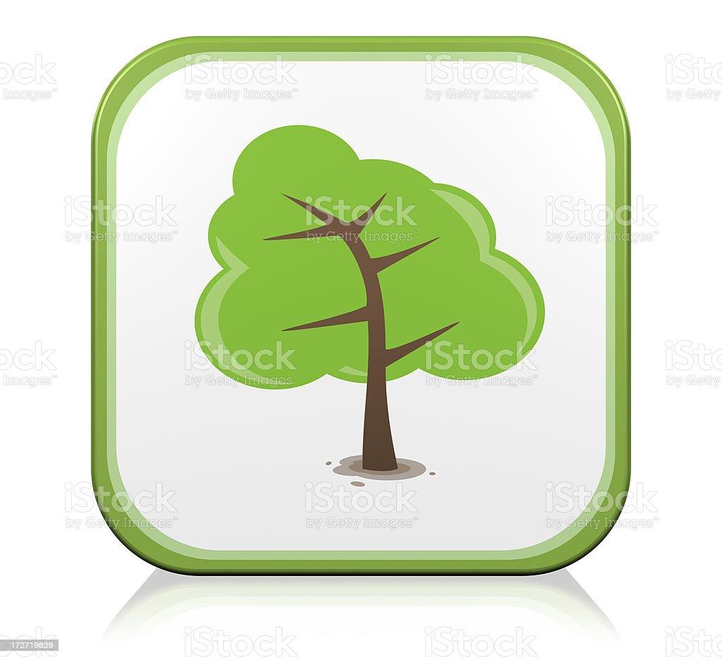 Nature tree Icon royalty-free stock photo