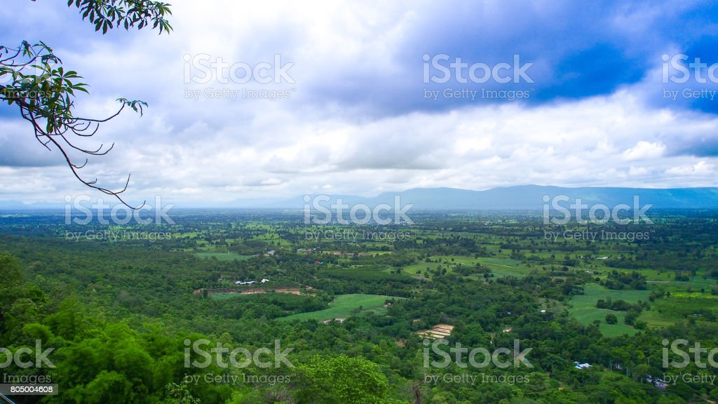 Nature view from the viewpoint. stock photo