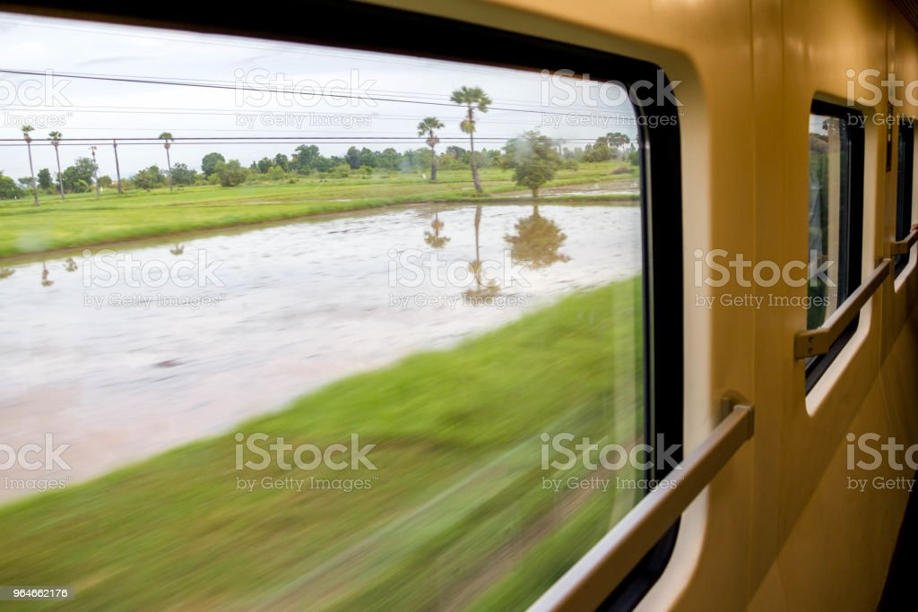 nature view looking from train royalty-free stock photo