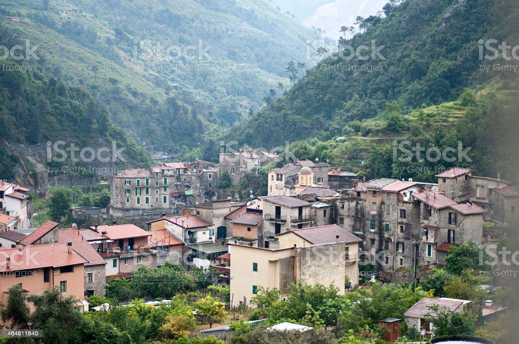 Nature view Torri Village in Ventimiglia Italy stock photo