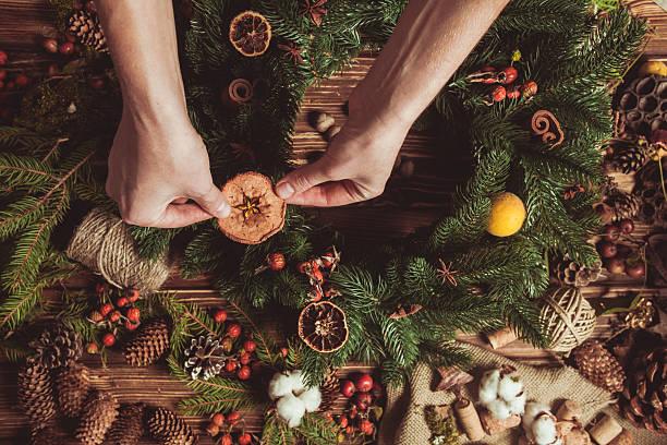Nature wreath making – Foto