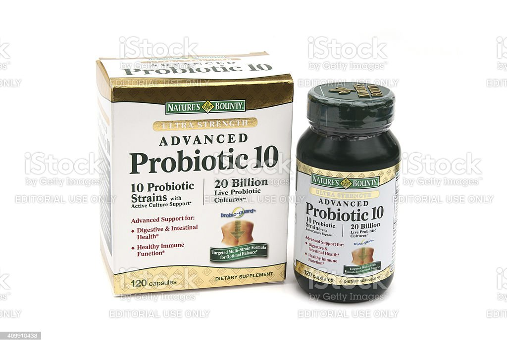 Nature's Bounty Probiotic dietary supplement royalty-free stock photo