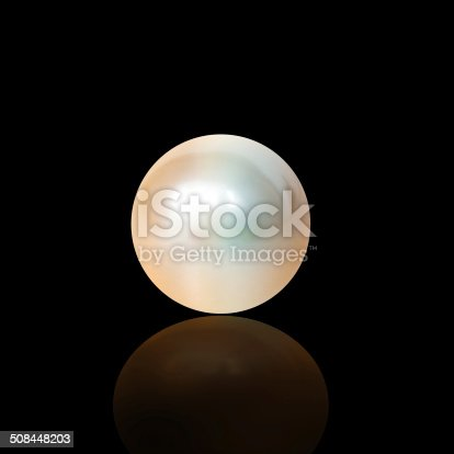 Studio shot of a large pearl