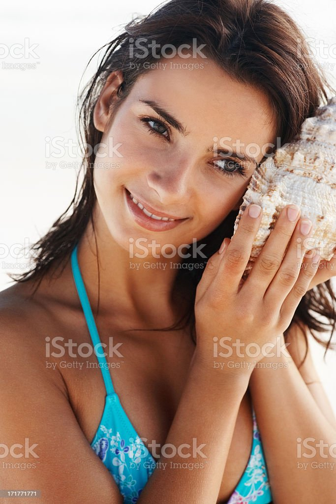 Nature's whispering to her royalty-free stock photo