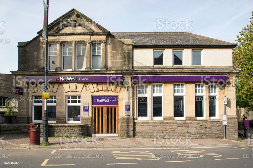 NatWest Bank in rural town - foto stock