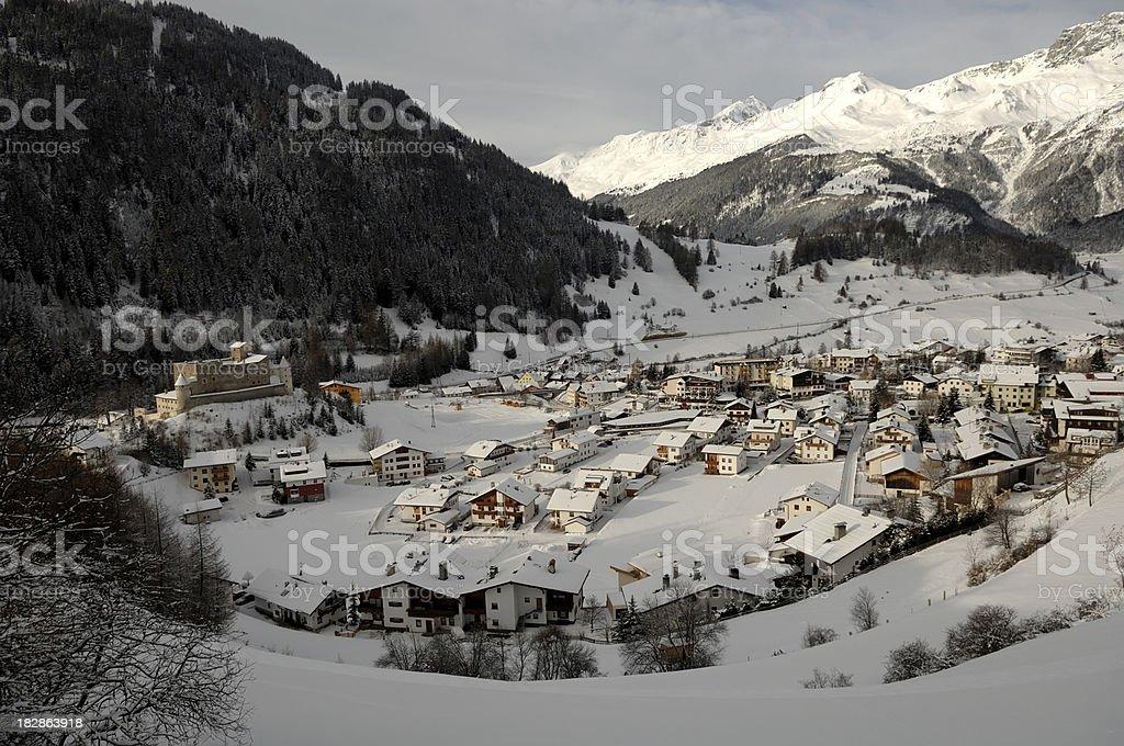 Nauders Village Ski Resort royalty-free stock photo