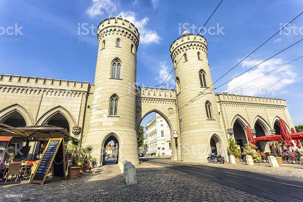 Nauener Tor in Potsdam stock photo