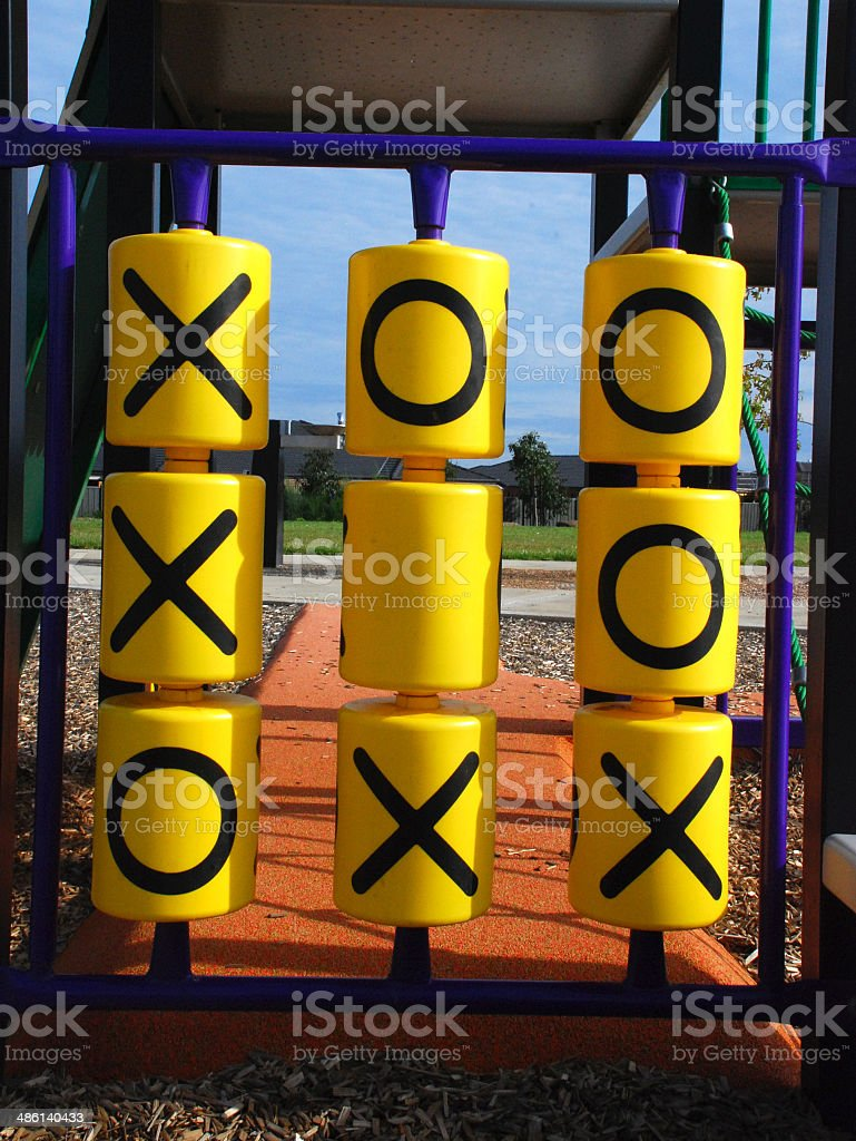Naughts and crosses stock photo