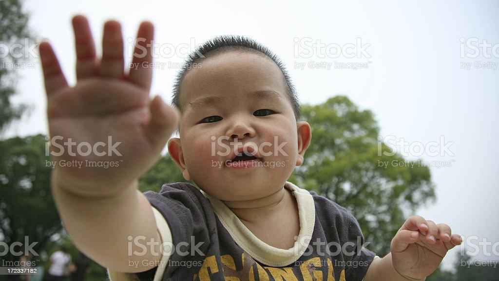 Naughty boy royalty-free stock photo
