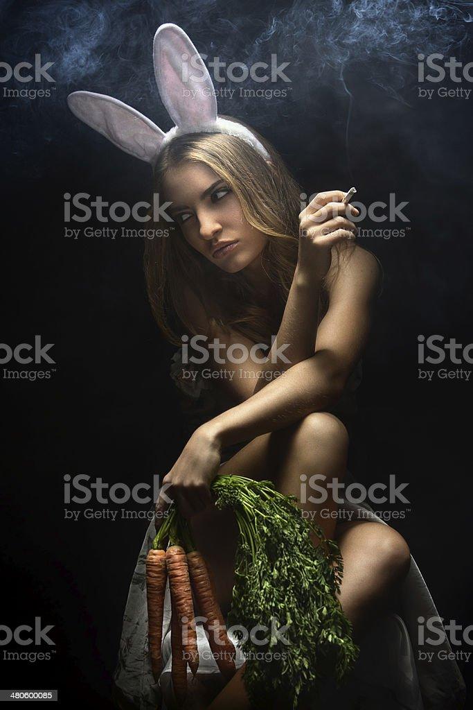 Naughty Bunny Girl stock photo