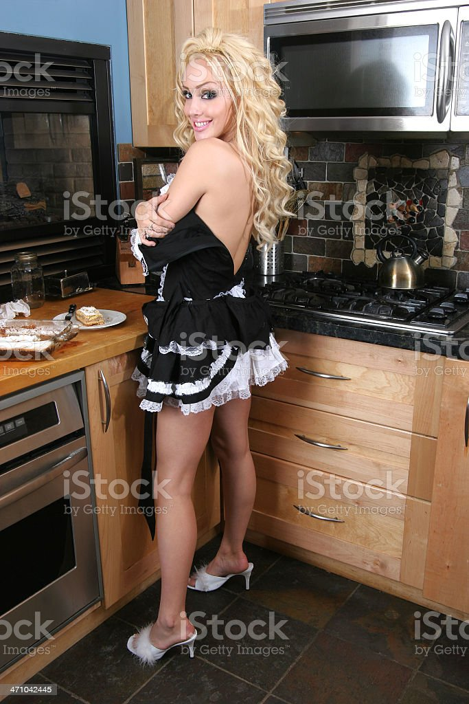 Naughty French Maid Stock Image